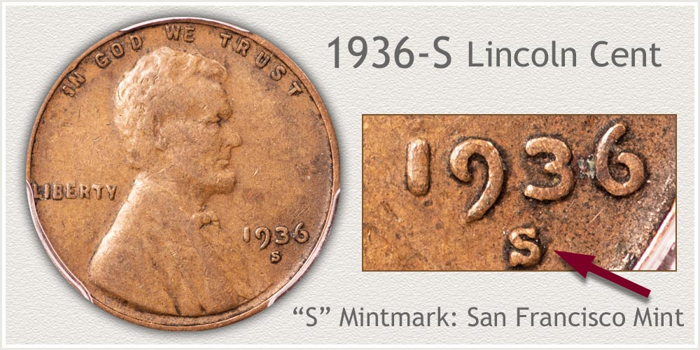 1936-S Lincoln Penny