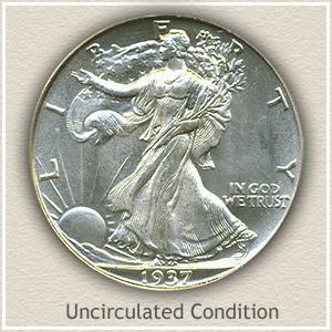 1937 Half Dollar Uncirculated Condition