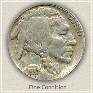 1937 Nickel Fine Condition