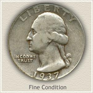 1937 Quarter Fine Condition