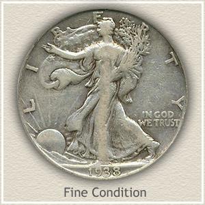 1938 Half Dollar Fine Condition
