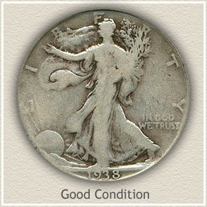 1938 Half Dollar Good Condition