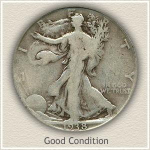1938 Half Dollar Good Condition