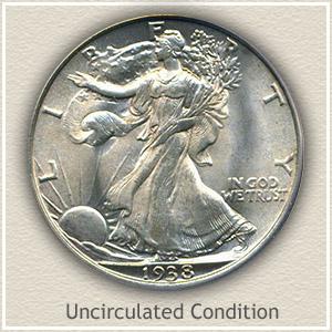 1938 Half Dollar Uncirculated Condition