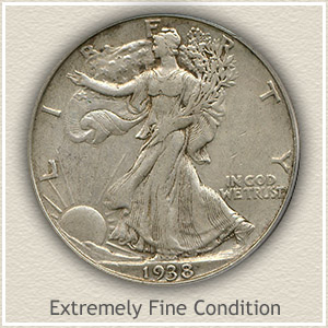 1938 Half Dollar Extremely Fine Condition