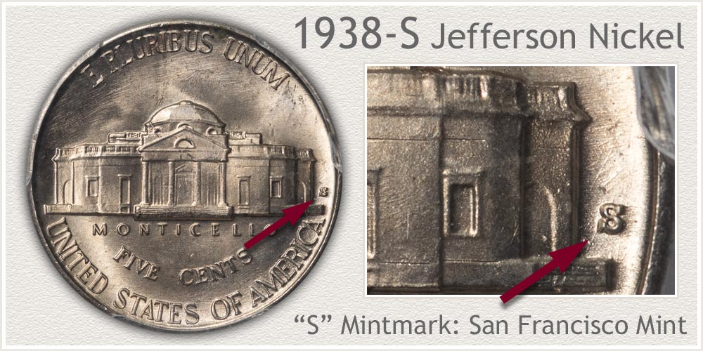 1938-S Jefferson Nickel