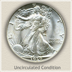 1939 Half Dollar Uncirculated Conditon