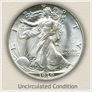 1939 Half Dollar Uncirculated Conditon