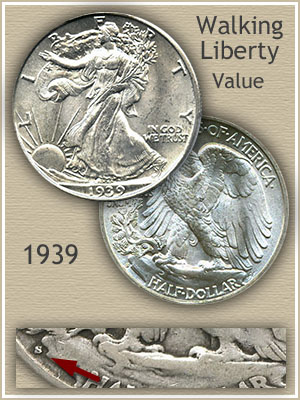Uncirculated 1939 Half Dollar Value
