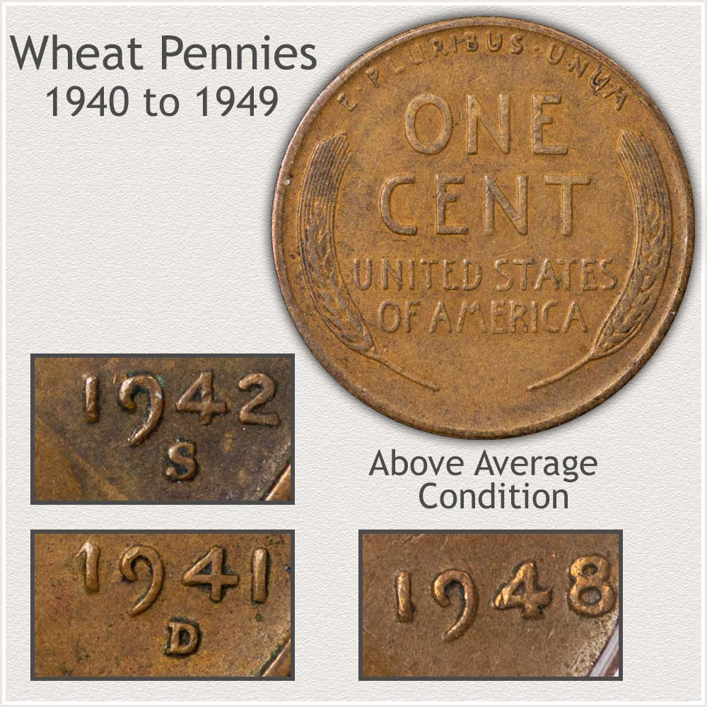 Important Features of the 1940's Decade Wheat Pennies