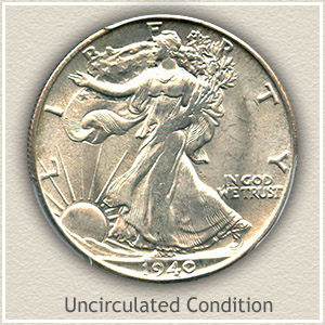 1940 Half Dollar Uncirculated Condition
