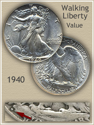 Uncirculated 1940 Half Dollar Value