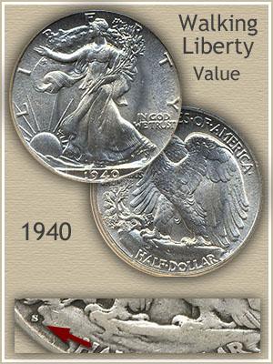 Uncirculated 1940 Half Dollar Value