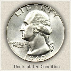 1940 Quarter Uncirculated Condition