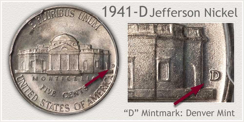 1941-D Jefferson Nickel