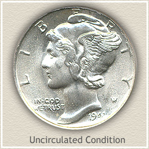 1941 Dime Uncirculated Condition