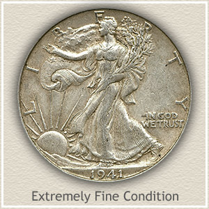 1941 Half Dollar Extremely Fine Condition