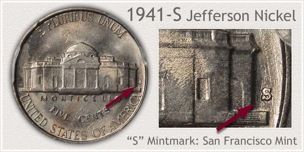 1941-S Jefferson Nickel