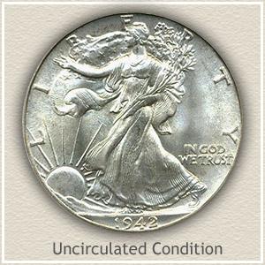 1942 Half Dollar Uncirculated Condition