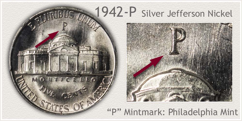 1942-P Silver Jefferson Nickel