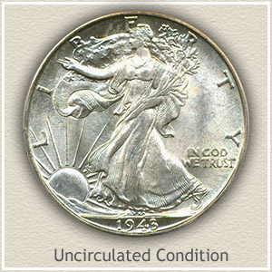 1943 Half Dollar Uncirculated Condition