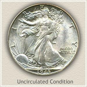 1943 Half Dollar Uncirculated Condition