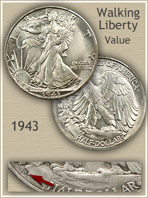 Uncirculated 1943 Half Dollar Value