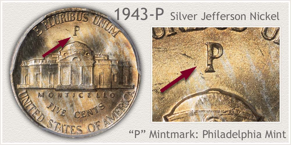 1943-P Jefferson Nickel
