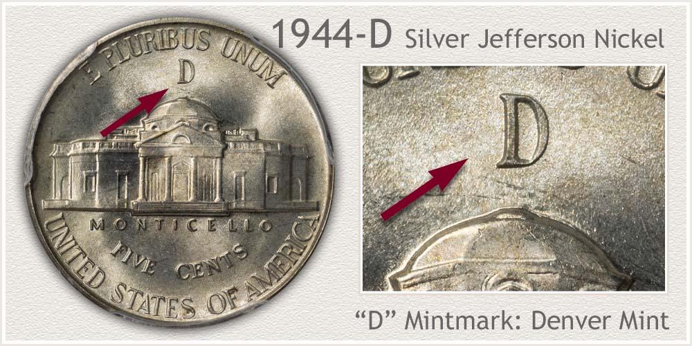 1944-D Silver Jefferson Nickel