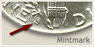 1944 Dime S Mintmark Location
