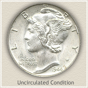 1944 Dime Uncirculated Condition
