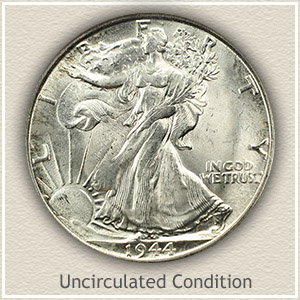 1944 Half Dollar Uncirculated Condition