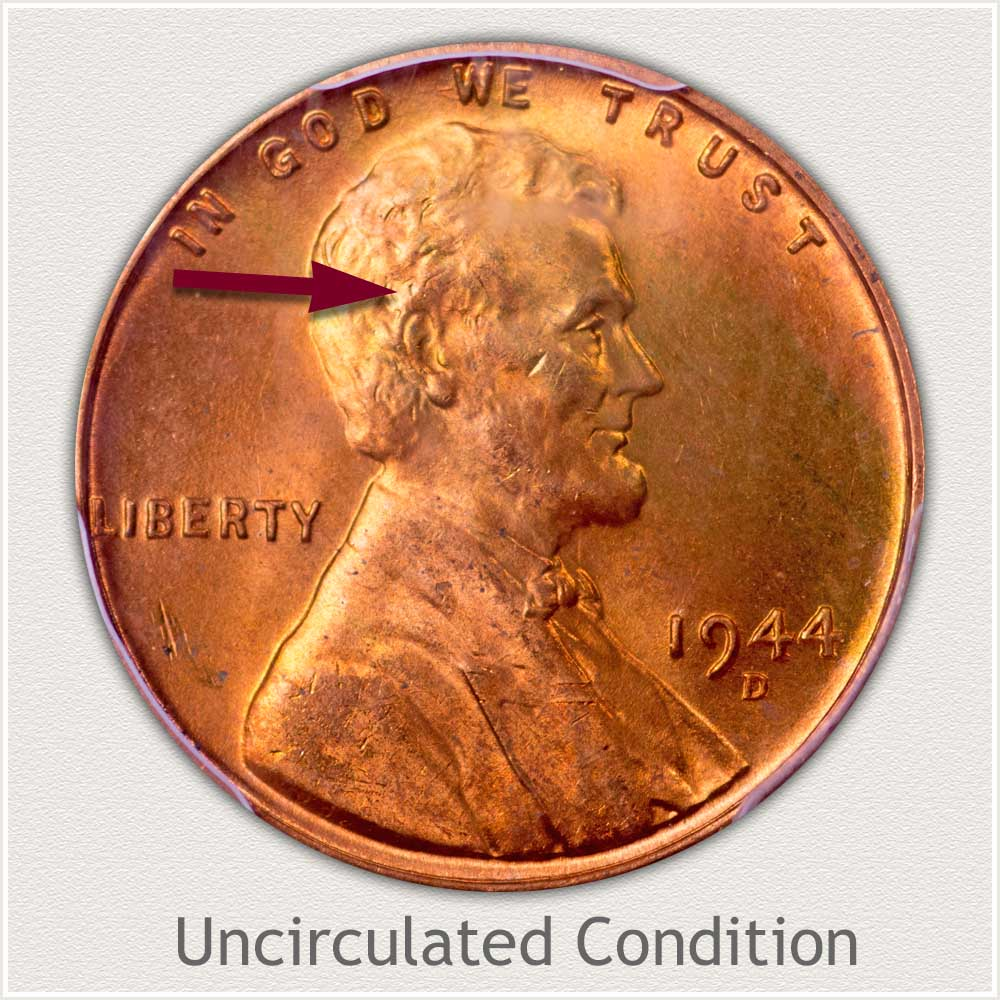 Uncirculated Grade 1944 Lincoln Penny