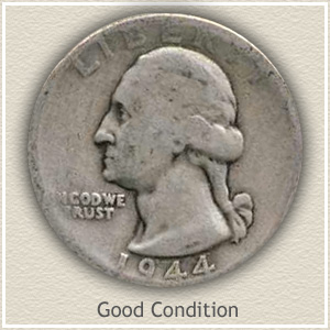 1944 Quarter Good Condition