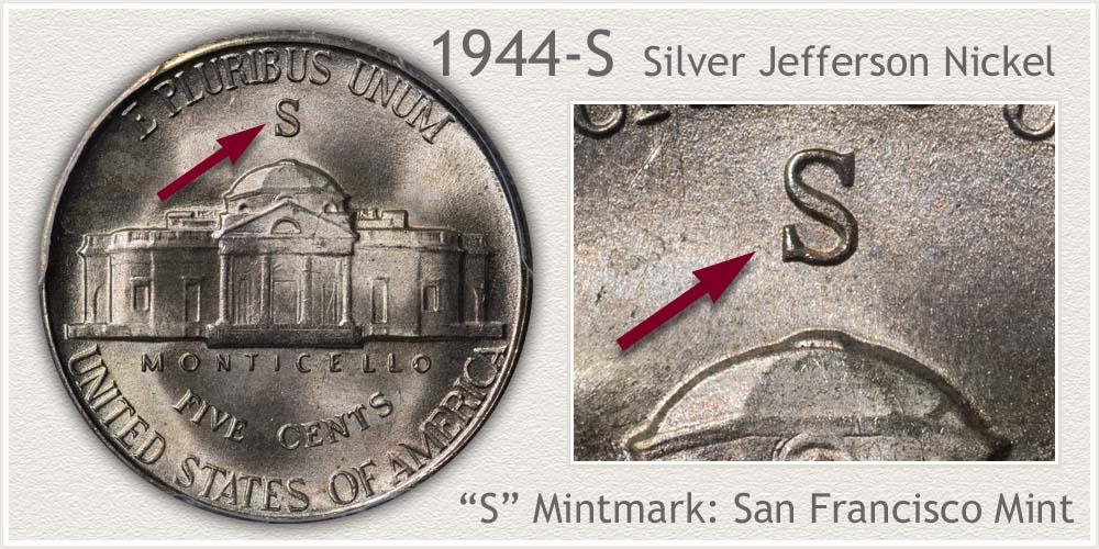 1944-S Silver Jefferson Nickel