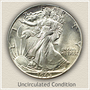 1945 Half Dollar Uncirculated Condition