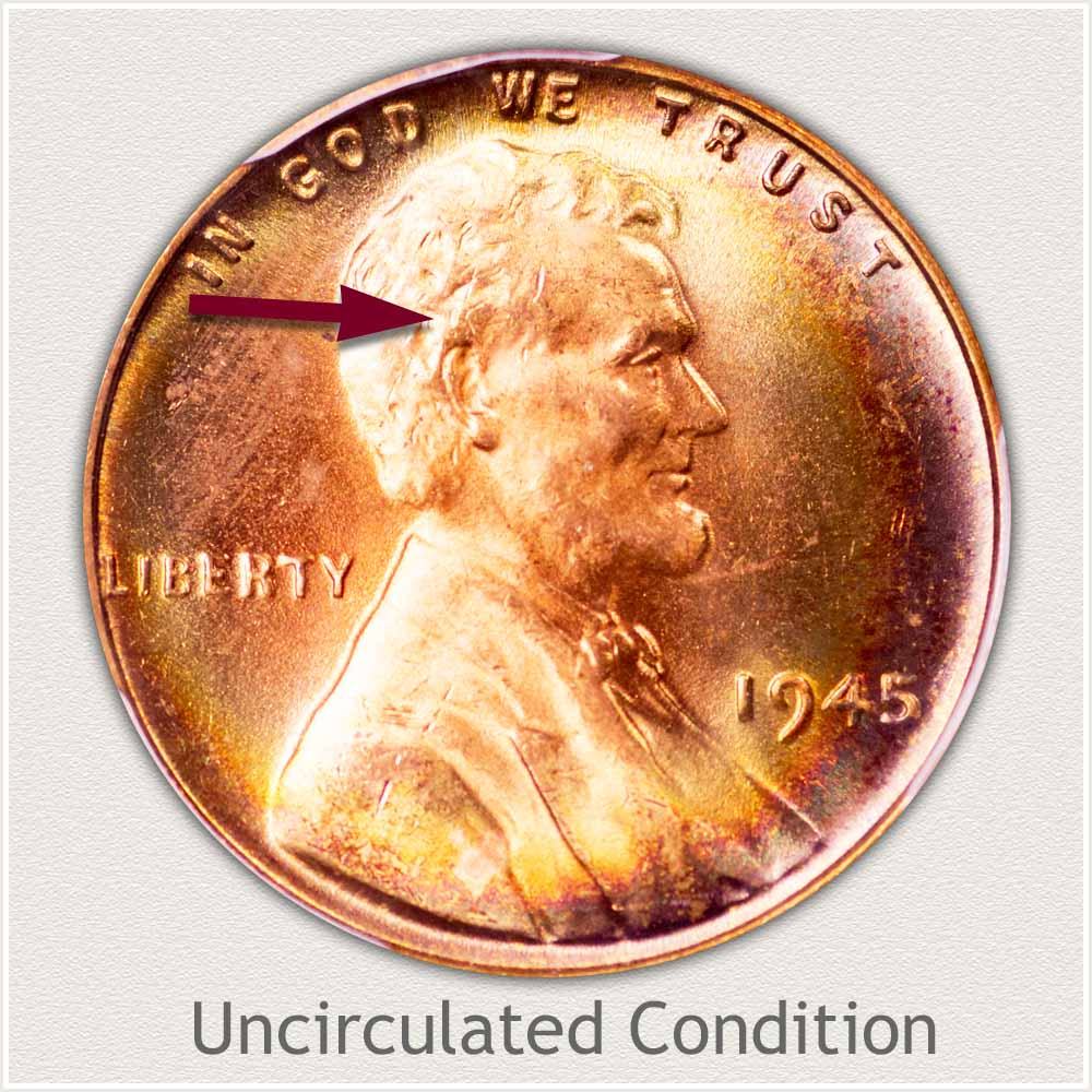Uncirculated Grade 1945 Lincoln Penny
