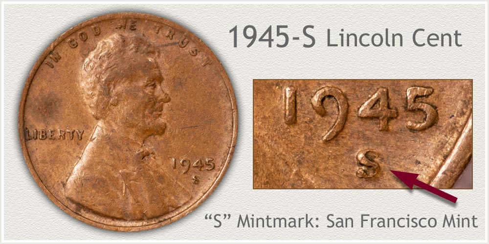 1945-S Lincoln Penny