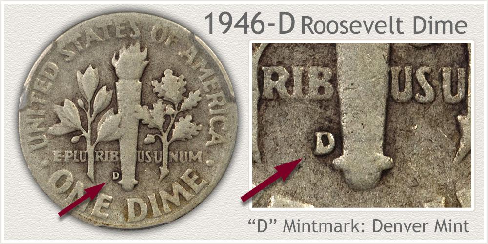 1946-D Roosevelt Dime