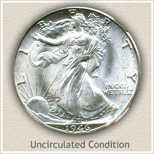 1946 Half Dollar Uncirculated Condition