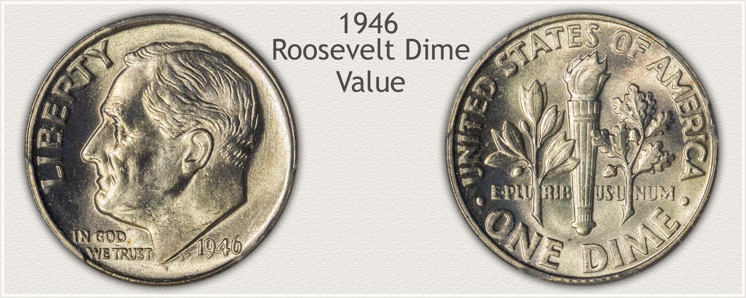 1946 Roosevelt Dime - Obverse and Reverse
