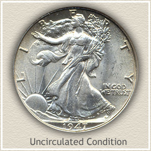 1947 Half Dollar Uncirculated Condition