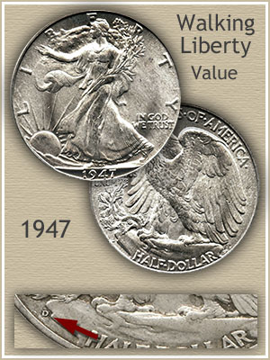 Uncirculated 1947 Half Dollar Value