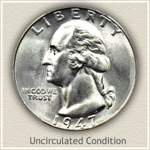 1947 Quarter Uncirculated Condition