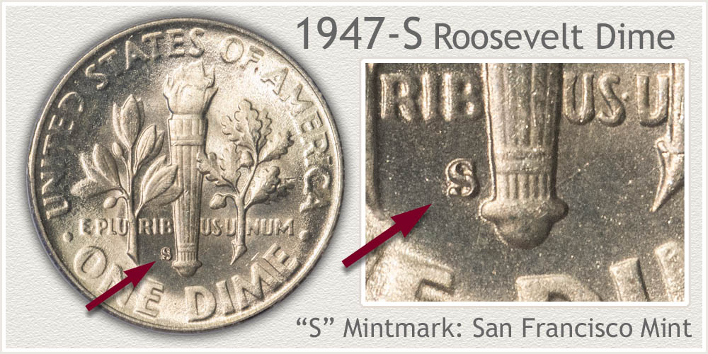 1947-S Roosevelt Dime