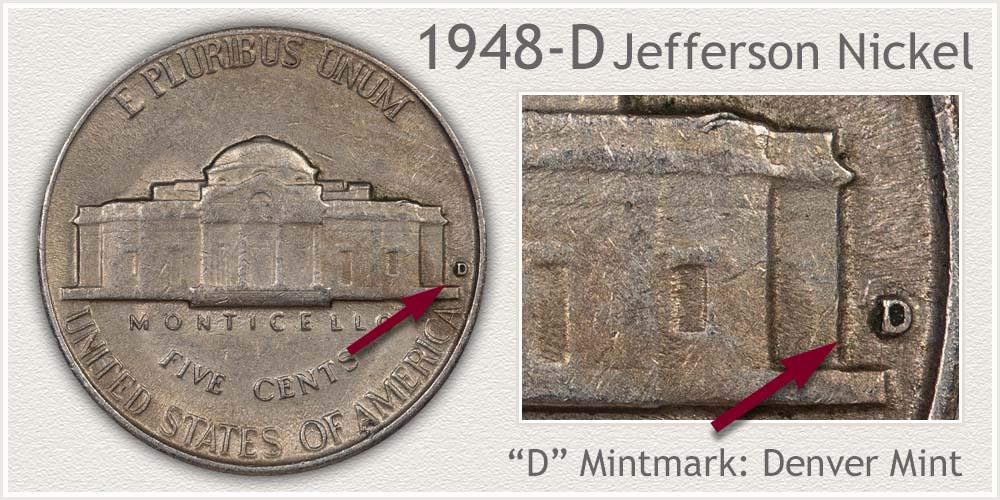 1948-D Jefferson Nickel