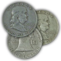 1948 Franklin Half Dollar Circulated Condition