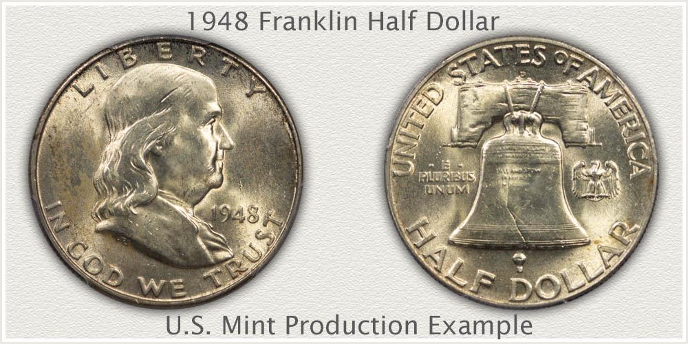 1948 Franklin Half Dollar U.S. Mint Production Example