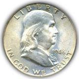1948 Franklin Half Dollar Uncirculated Condition