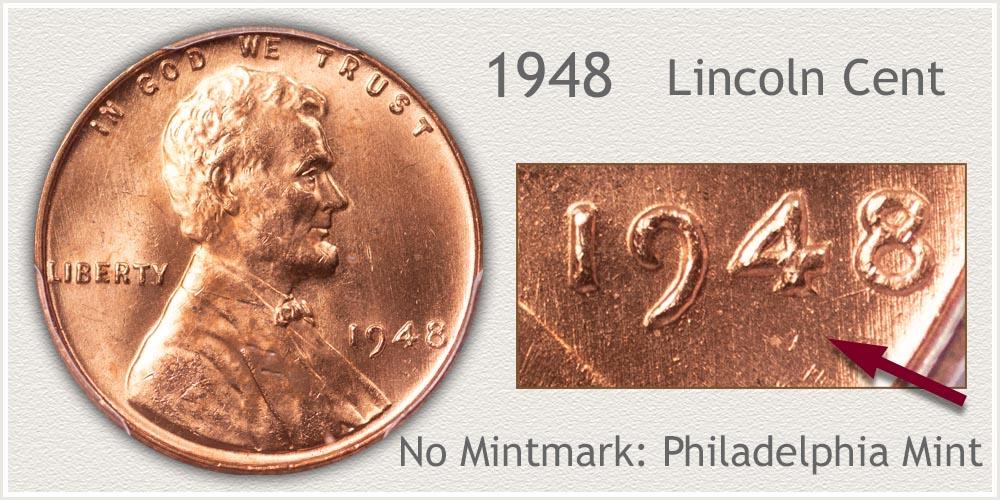3 1948--P,D/&S @ *Premium Quality*  Lincoln Wheat Pennys
